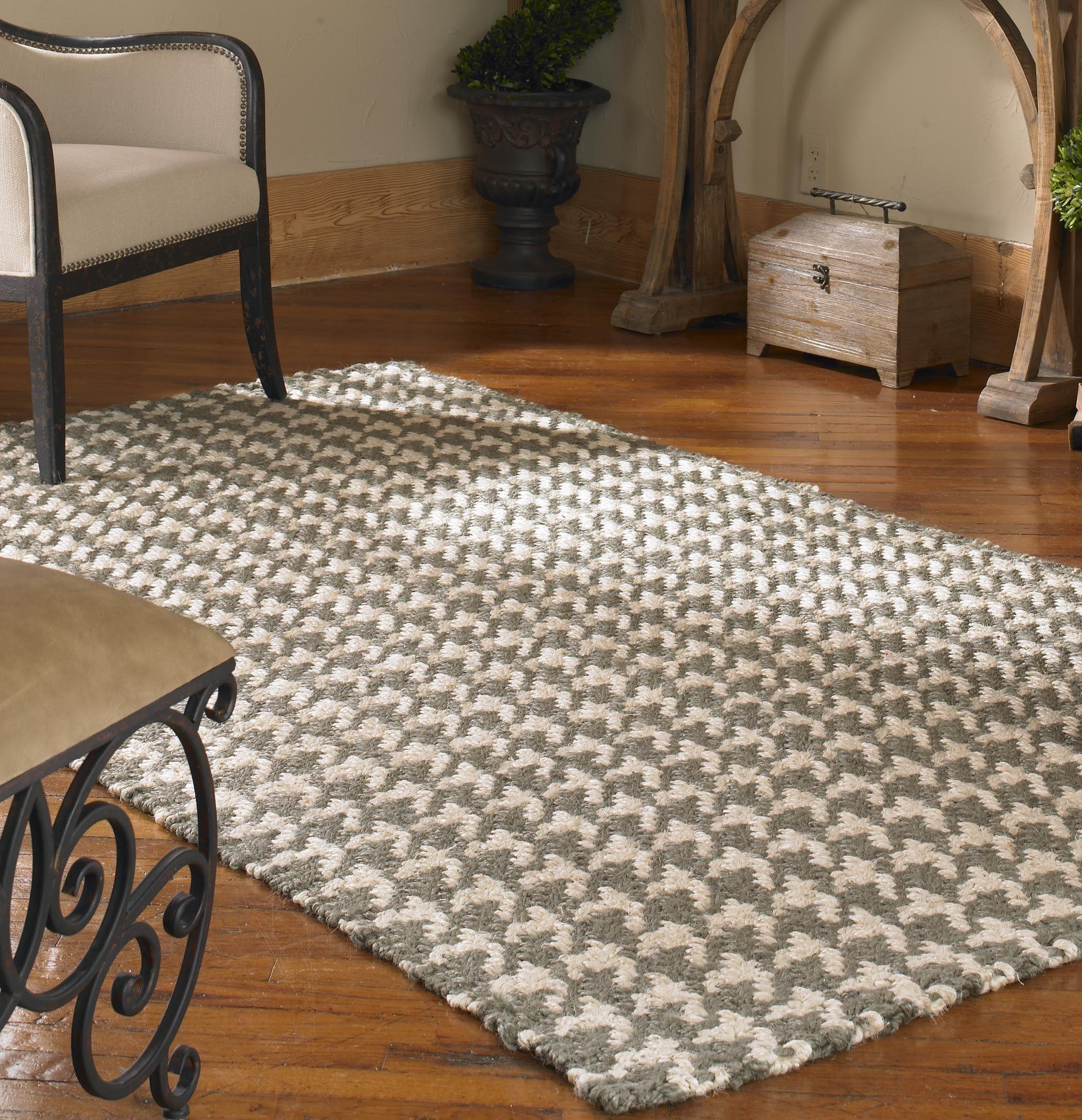 Bengal 5 x 8 rug olive gray herringbone decor black