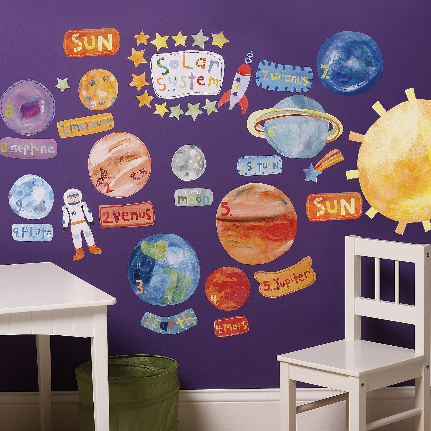 Wallies Solar System Interactive Wall Decal