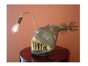 Deep fabricated from Sea sheet Lamp patches Anglerfish metal eEH9DYW2I
