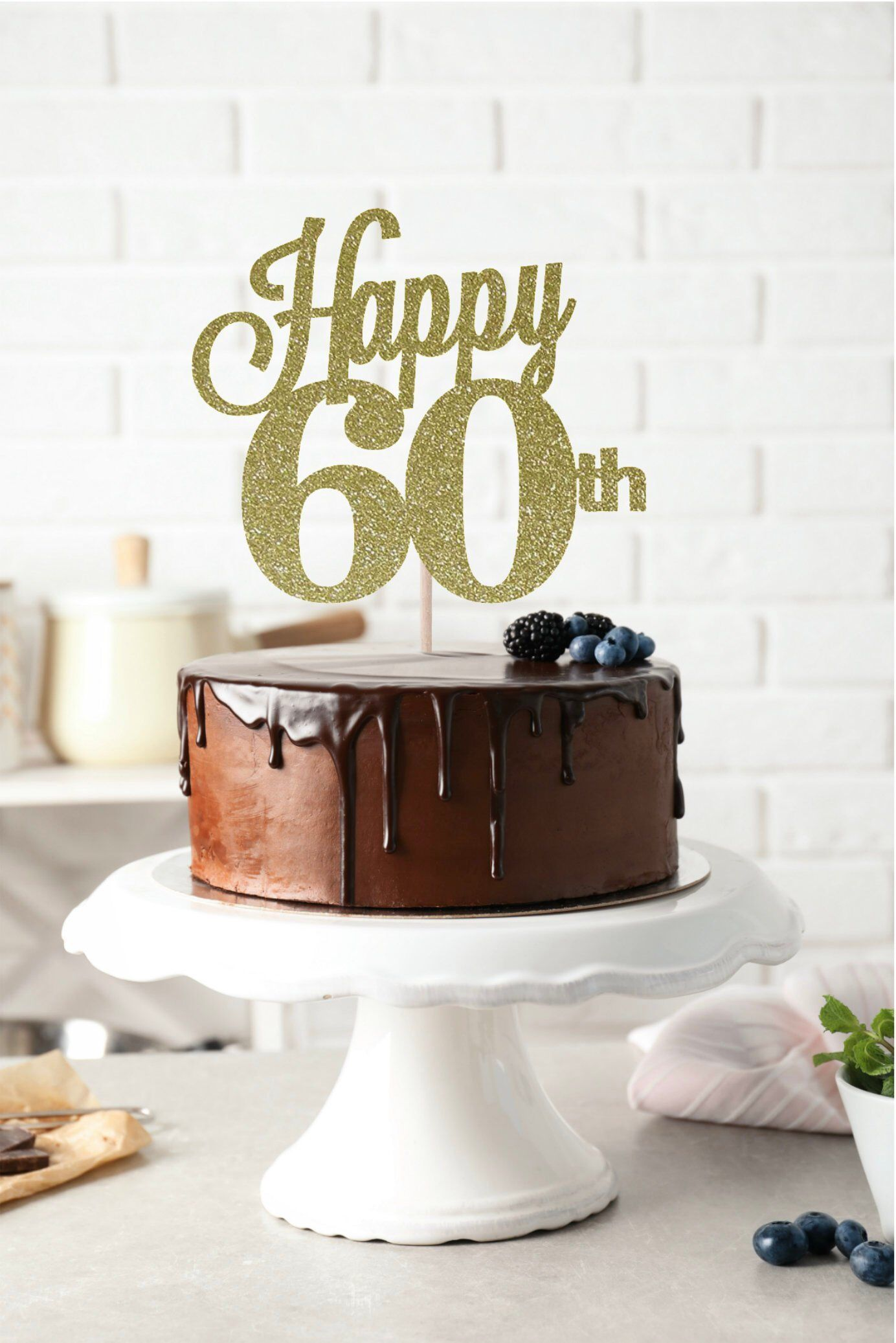 Admirable Happy 60Th Cake Topper 60Th Birthday Cake Topper Birthday Cake Funny Birthday Cards Online Bapapcheapnameinfo