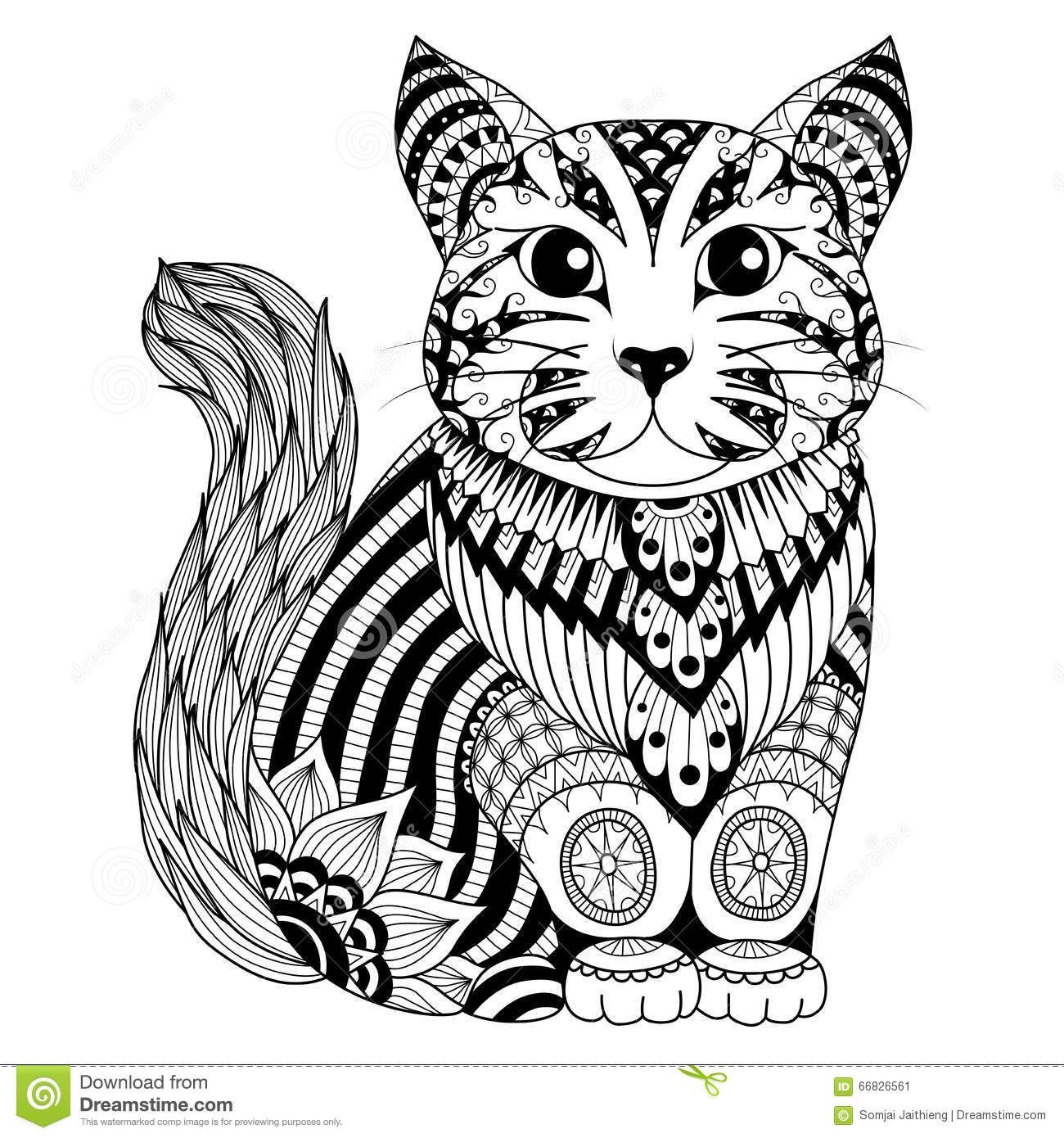 gatos zentangle - Buscar con Google | gatitos | Pinterest ...