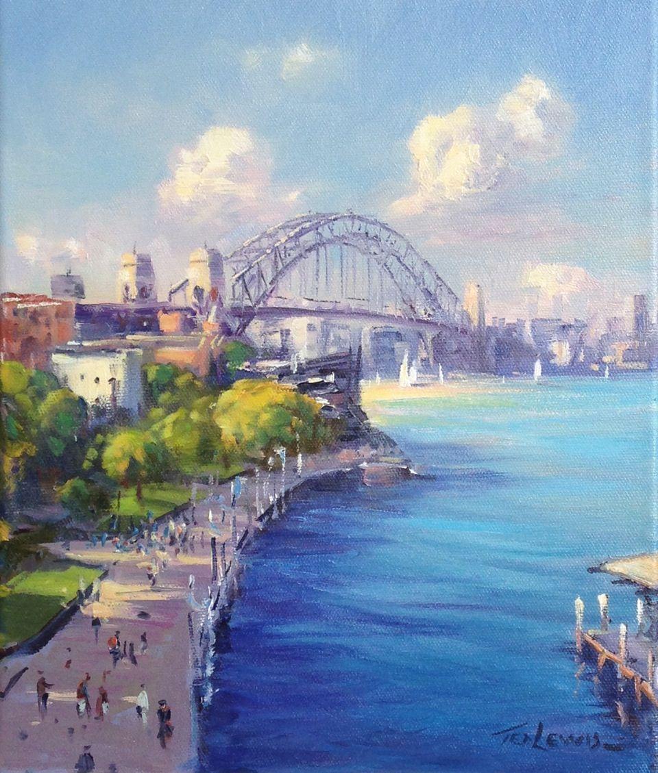 Ted Lewis 'View to the Bridge' 30cm x 25cm TedLewis