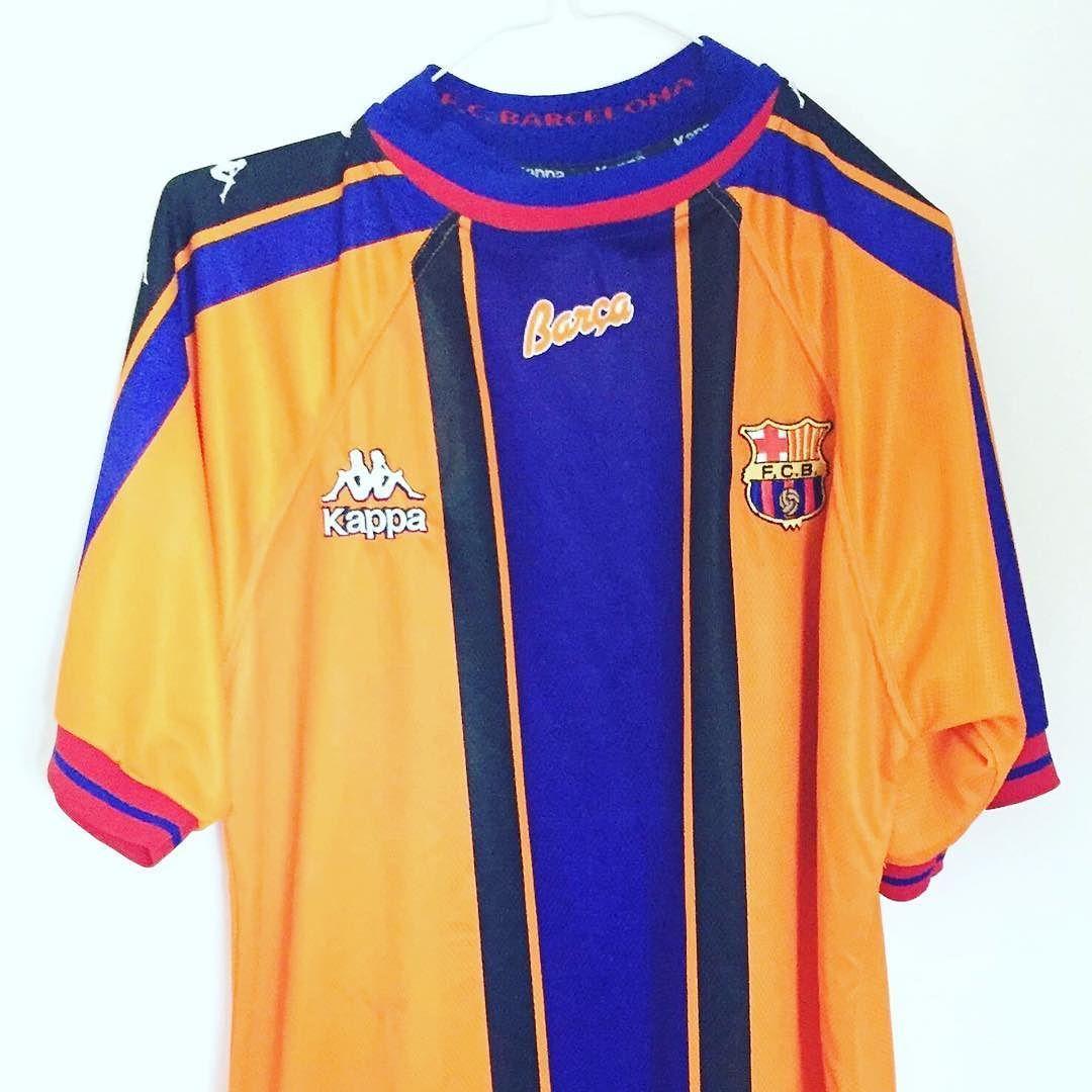 c7ec4fef7 1997-98 Barcelona Away Shirt L  football  footballshirt   footballshirtcollective  vintagefootball  classicfootball  barcelona   fcbarcelona  fcb  kappa ...