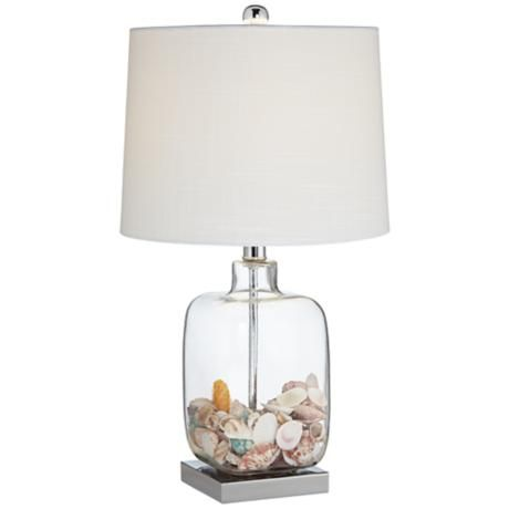 Fillable Table Lamp, Square Glass Table Lamp Base