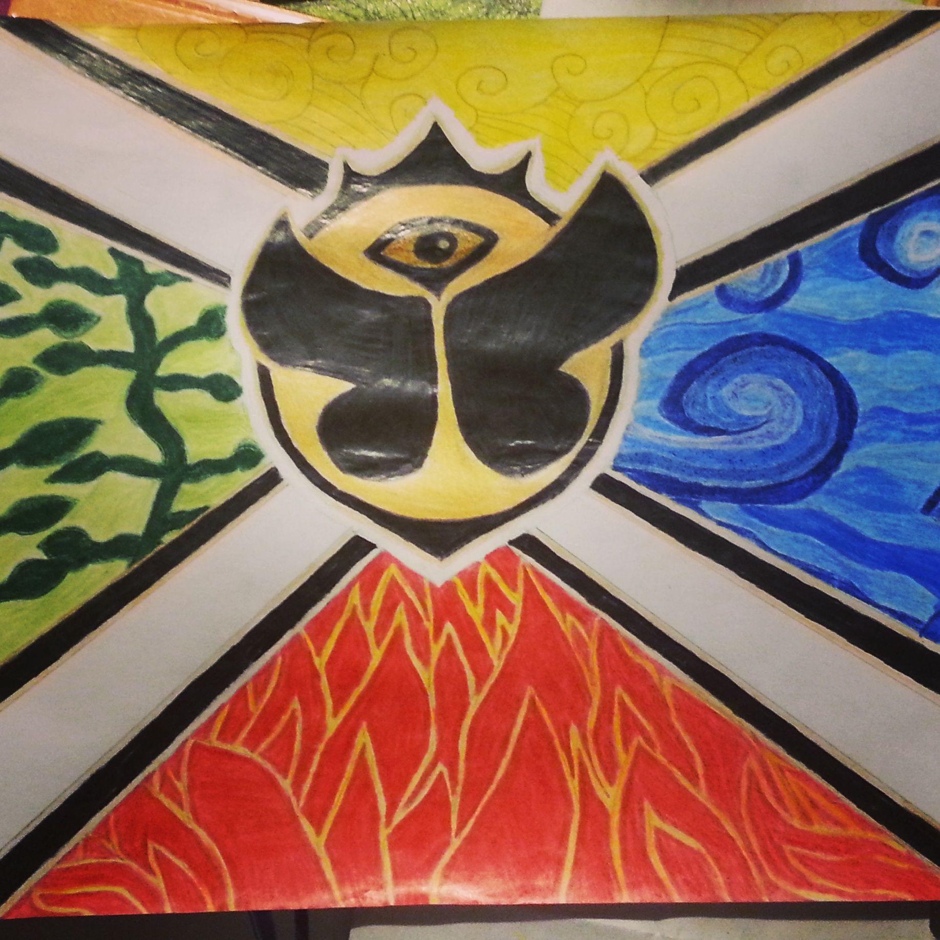 Tomorrowland Flagge selber gemalt