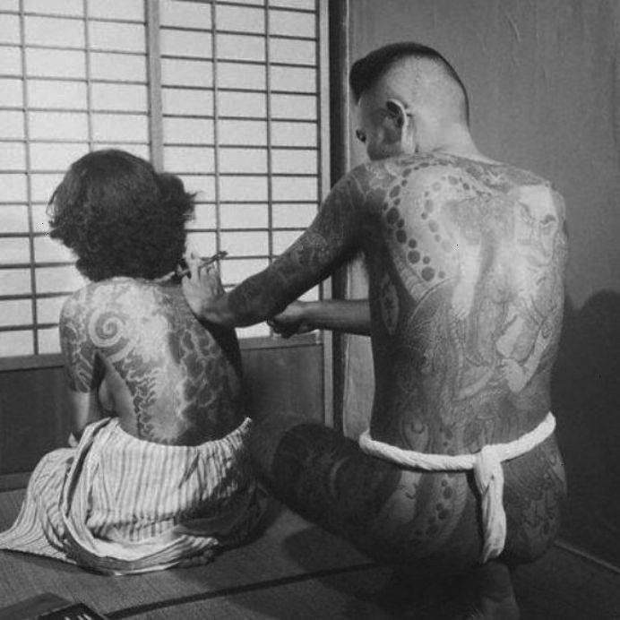 : Vintage Photos of Yakuza With Their Full Body Suit Tattoos ~ - Japanese Gangster: Vintage Photos