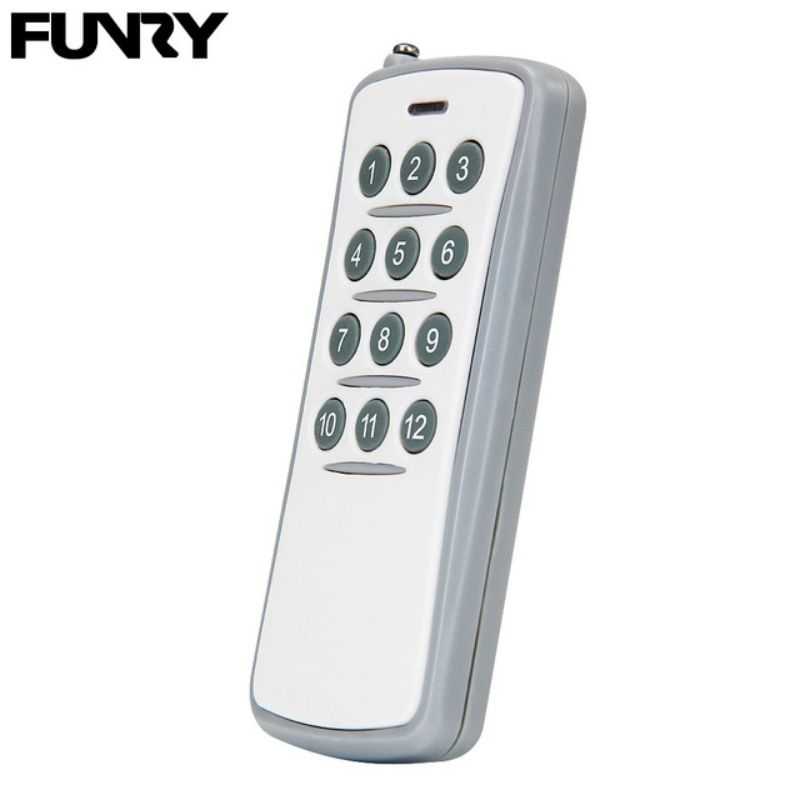 Original Funry Wireless Smart Remote Control 12 Buttons Wall Light Switch Accessories Rf433 Mhz 20m Dc 12v 23a Multiple Control