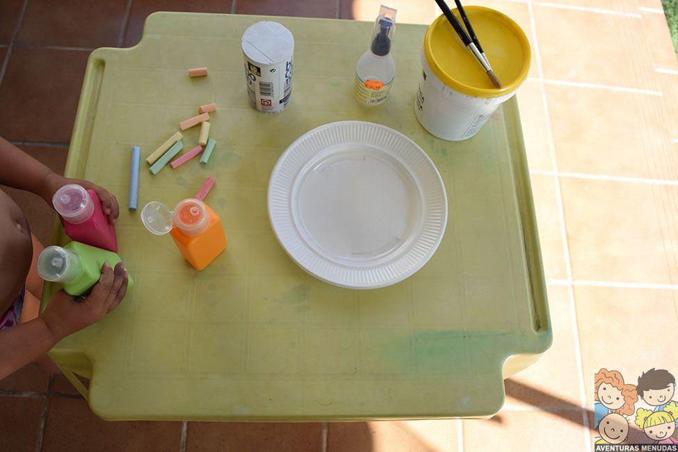 Pintar con Bicarbonato – Aventuras Menudas