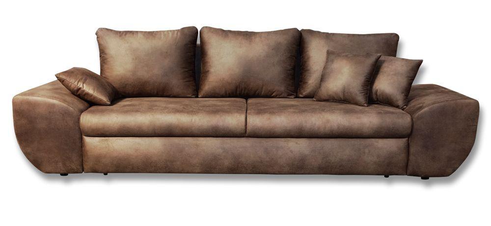 Big Sofa In Vintage Braun Microfaserstoff Günstig Online Kaufen