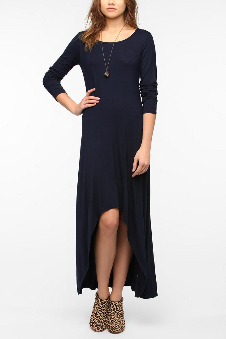 Out from under longsleeved highlow maxi dress window shopping