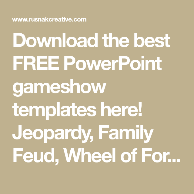 Download The Best Free Powerpoint Gameshow Templates Here Jeopardy