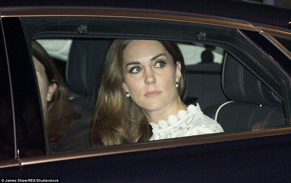 Kate stuns in a floorlength £320 Self Portrait gown