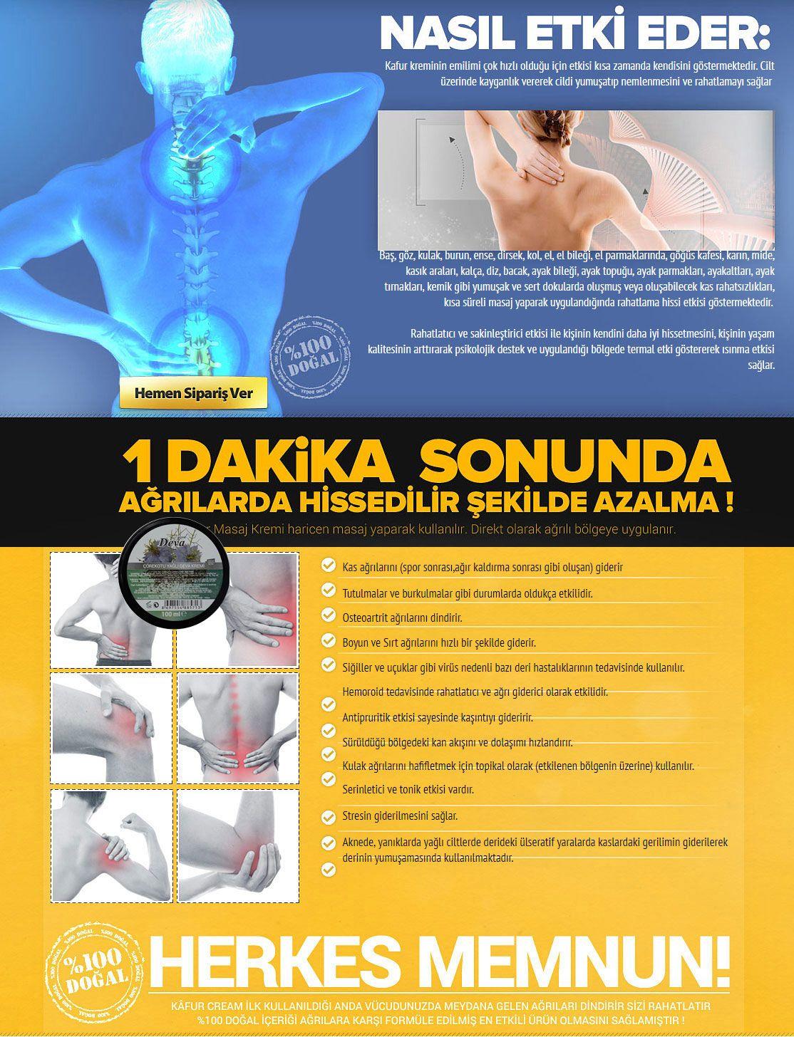 Deva ağrı kremi faydaları nedir