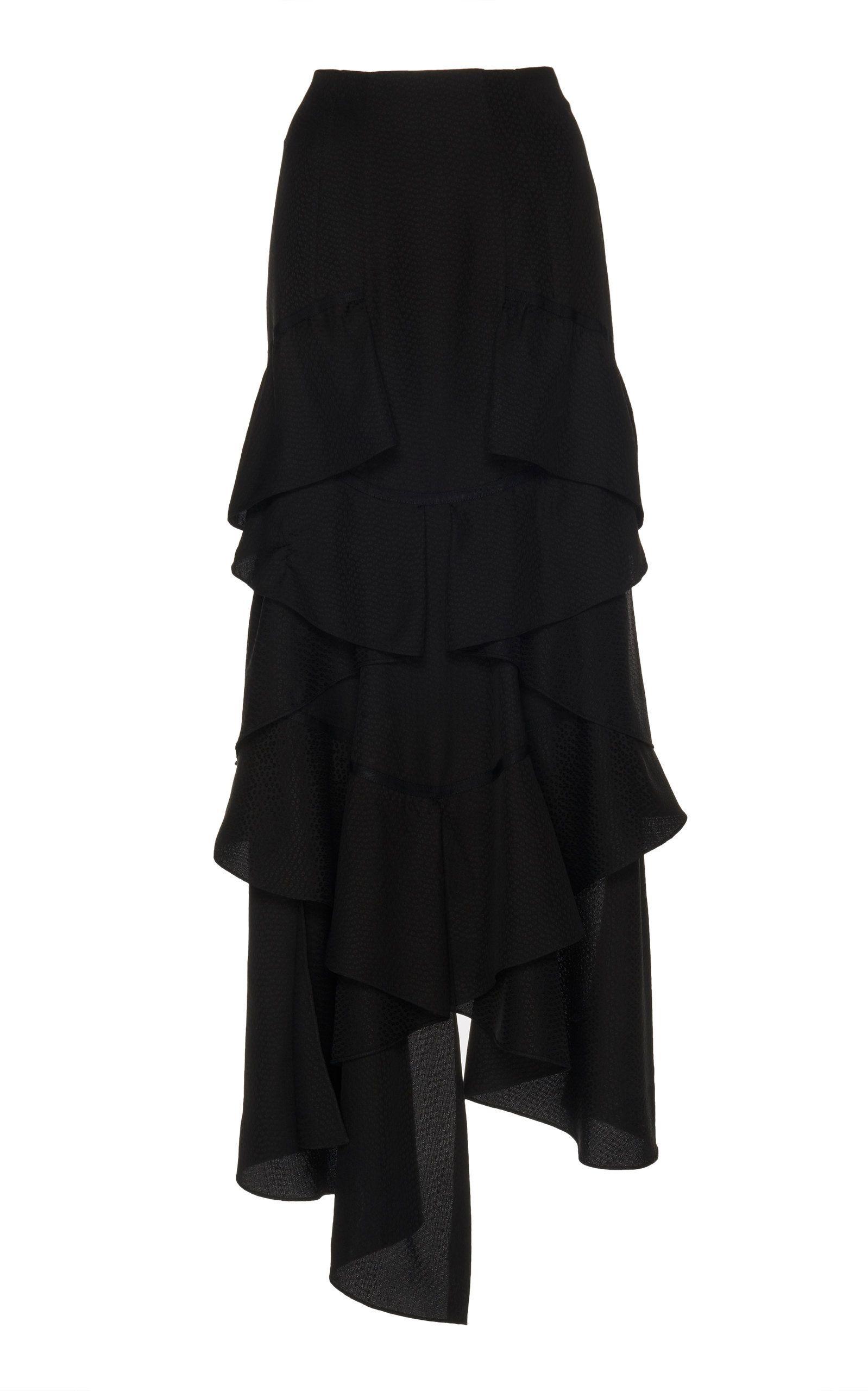 299e58d2fb Asymmetrical Ruffle Front Skirt by OLIVIER THEYSKENS for Preorder on Moda  Operandi