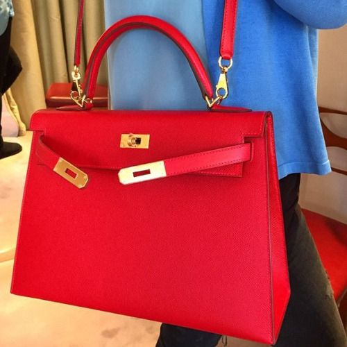 Beautiful red Hermes Kelly Sellier     my holy grail bag ... 5d1af887b7bfc