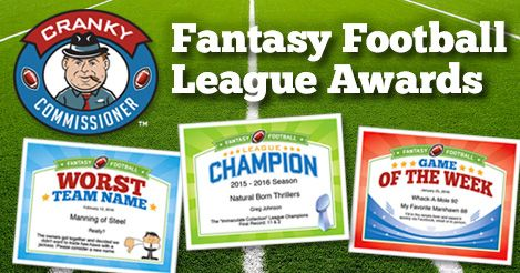 f57e2bd5b18 Fantasy Football Award Certificates — talk some smack with fellow owners