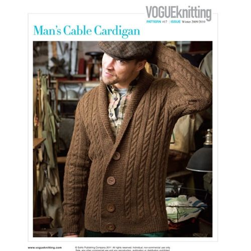 Mans Cable Cardigan Knitting Frenzy Pinterest Cable Vogue