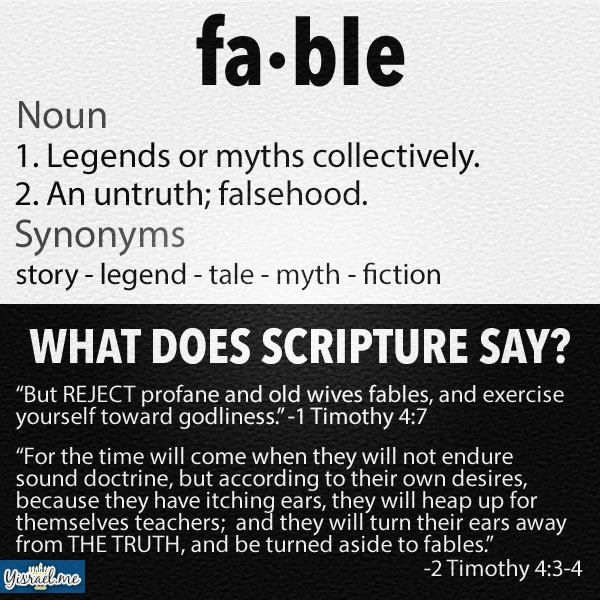 Put aside fables choose sound doctrine instead