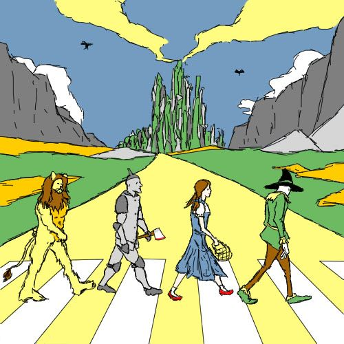 Yellow Abbey Road Dippydude Beatles Abbey Road Und The Beatles