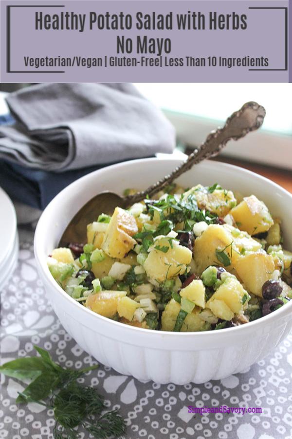 Simple Healthy Potato Salad Recipe