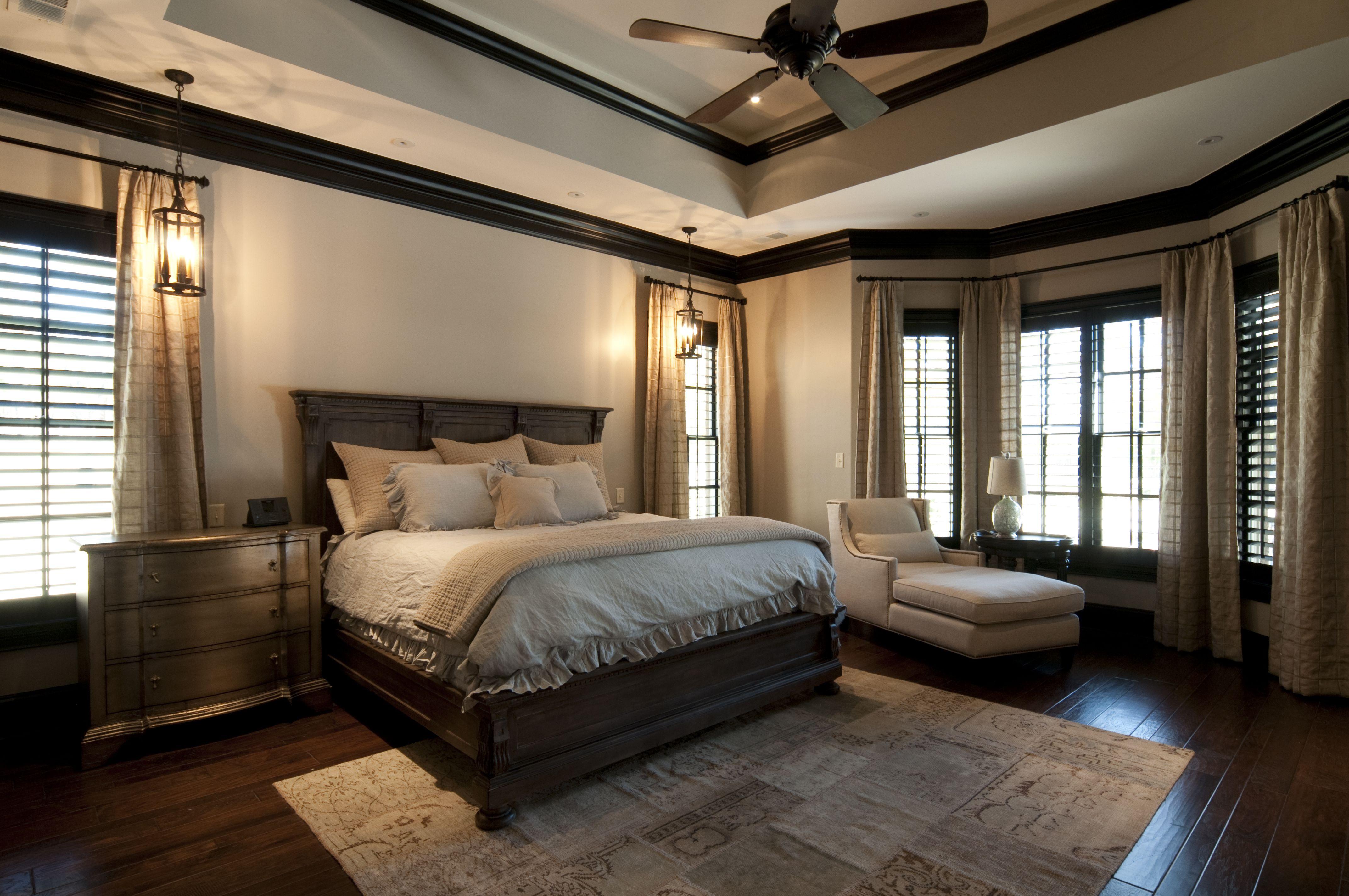 Master Bedroom; Custom Home built by Regency Homebuilders