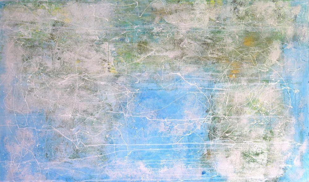 XXXL Wandbild abstrakt auf Leinwand Acryl handgemalt 120 cm x 200 cm ...
