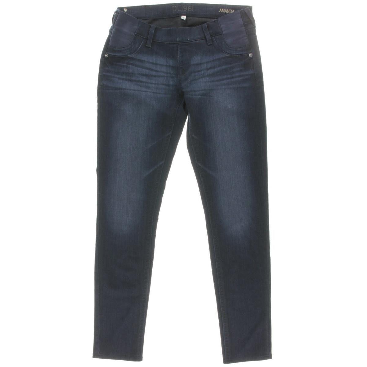 DL1961 Womens Amanda Maternity Whisker Wash Skinny Jeans