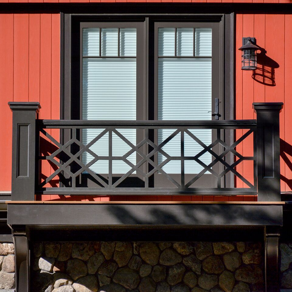 A Chinese Chippendale balcony railing dresses up a Vermont ...