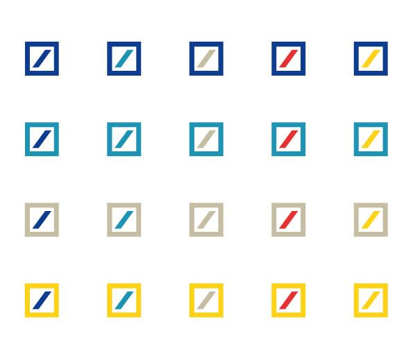 Karl Duschek, Color variations of the Deutsche Bank Logo