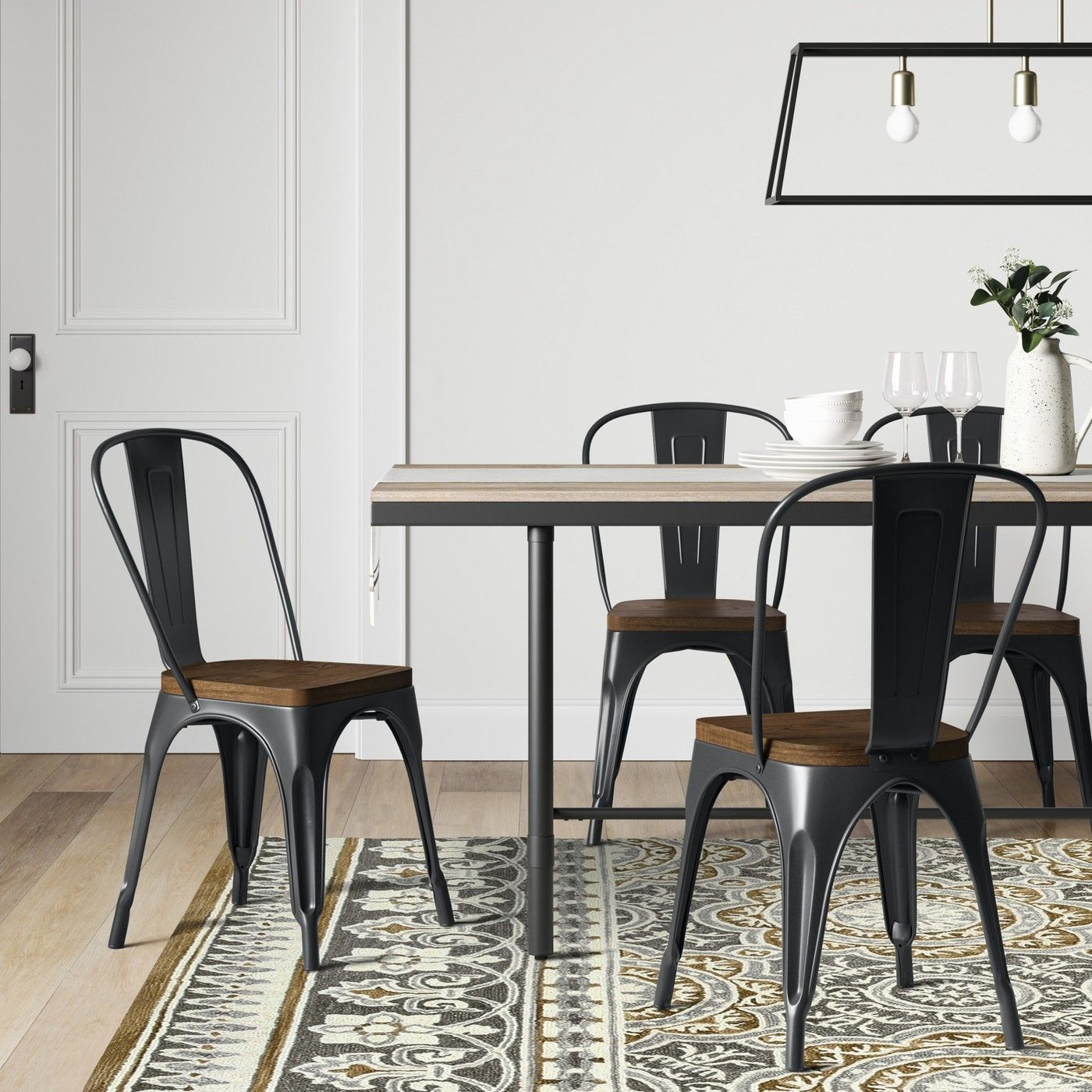 Carlisle High Back Dining Chair Threshold Dining Table Black