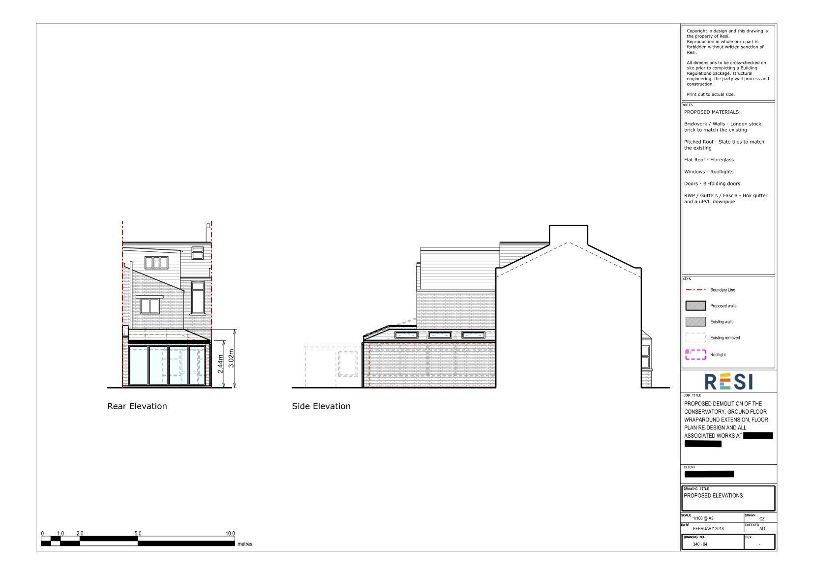 Ground Floor Wraparound Extension In Walthamstow Wraparound Extension Ground Floor Floor Plans
