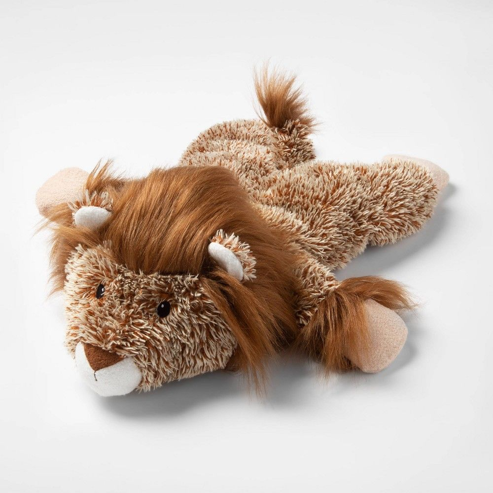 Cuddle Toss Lion Plush Squeaks Dog Toy Brown L Boots