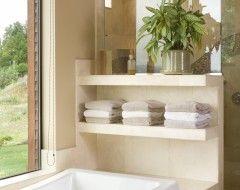 Whirlpool Kleine Badkamer : I like these short shelves for the whirlpool tub indoor
