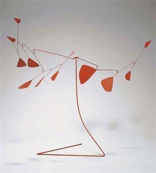 Douze feuilles rouges By Alexander Calder ,Circa 1954