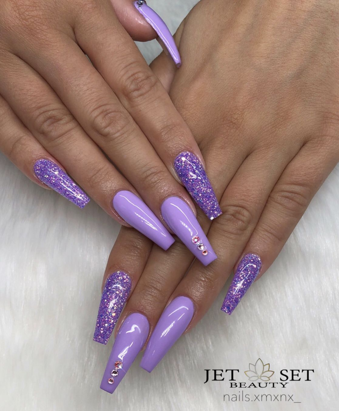 Pin by Luxuryxxx on NAILS // | Purple acrylic nails ...