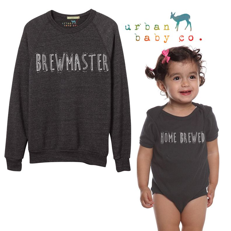 Brewmaster Home Brewed Beer Dad Baby Matching Set Outfit