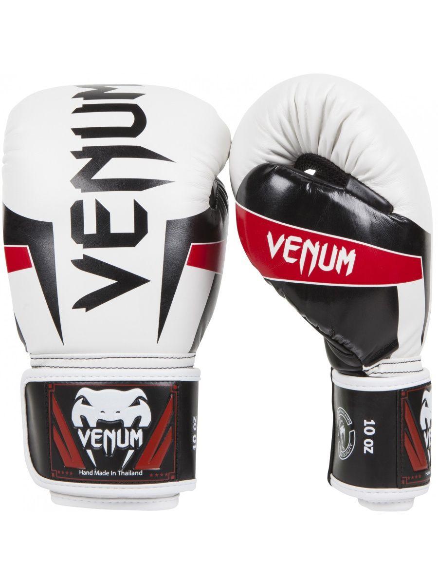 11d2b87f7fe Venum Перчатки боксерские Venum Elite Boxing Gloves - White Black ...