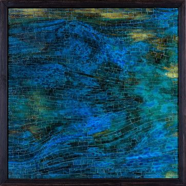 Contemporary Abstract Glass Mosaics contemporary, Mia Tavonatti