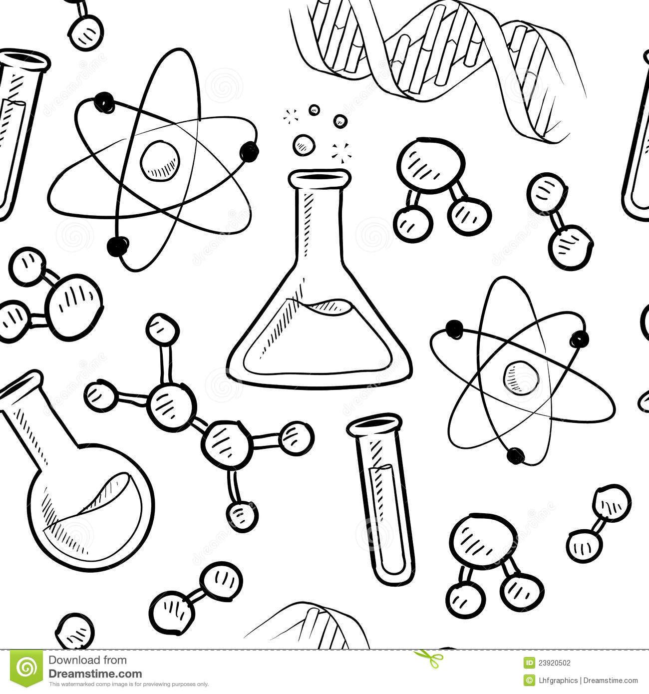 Line Drawing Chemistry : Science coloring pages profile cover timeline pictures