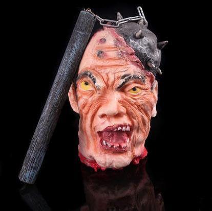 scary halloween decoration horror skull head masks prop rubber horror scary human blood head mask