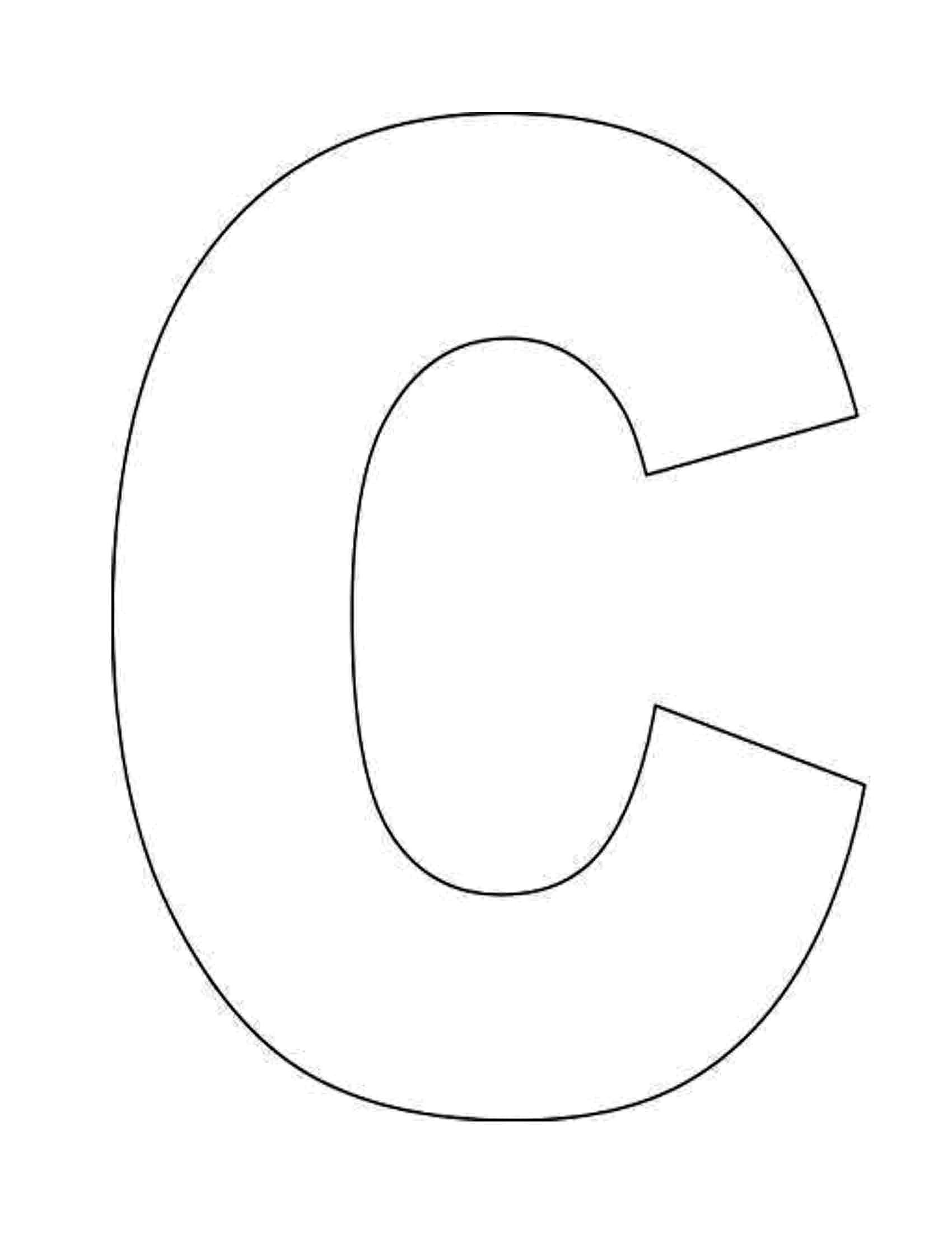 Sjabloon Letters Groot Letter C Coloring Pages To Download And Print For Free