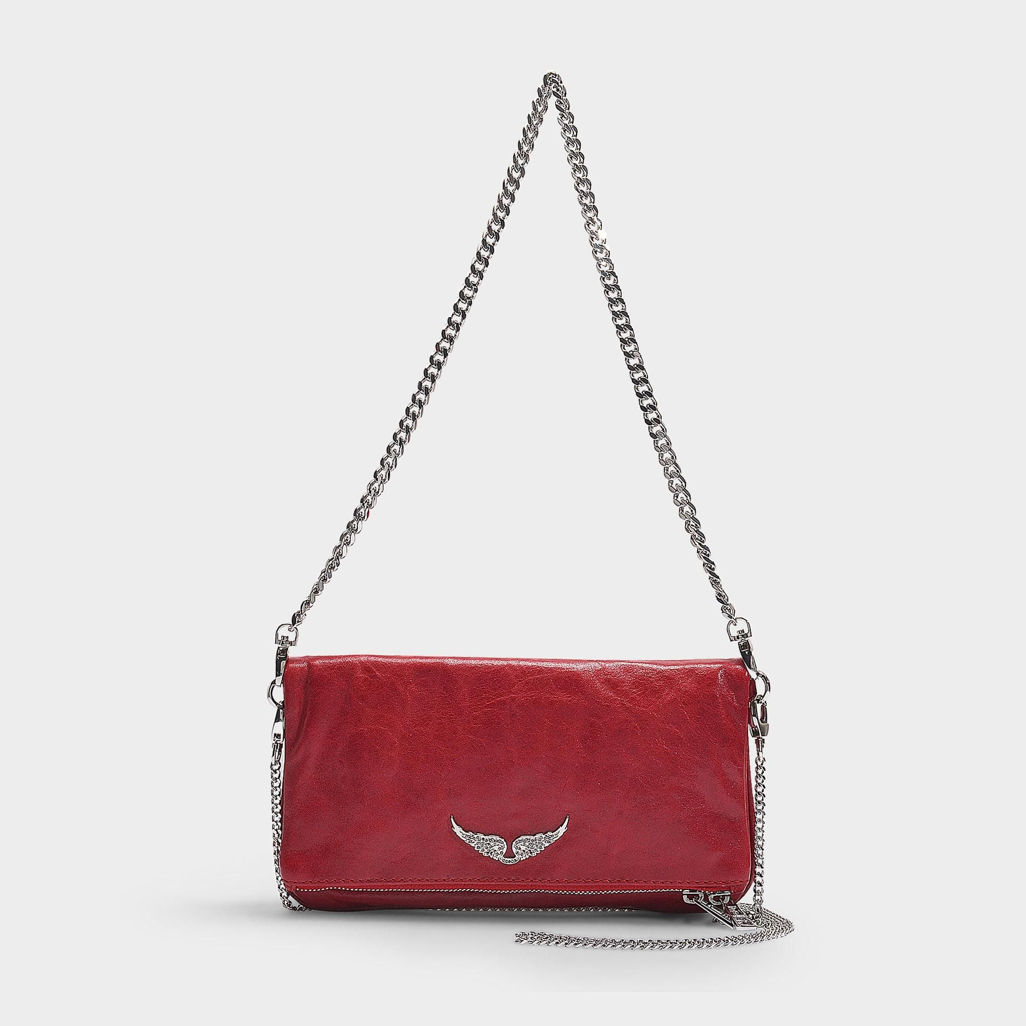 Rock Crush Bag In Red Calfskin Red Zadig & Voltaire