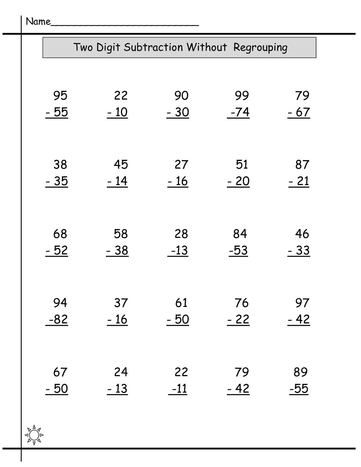 Math Sheets For Practice Math Worksheets Subtraction Worksheets Free Math Worksheets [ 1552 x 1200 Pixel ]