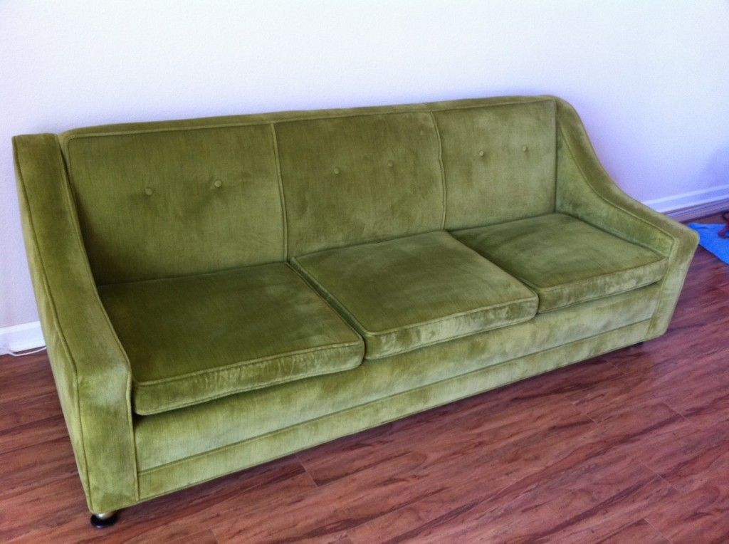 1960 39 S Vintage Green Couch Mint Hand Make My Home Pinterest