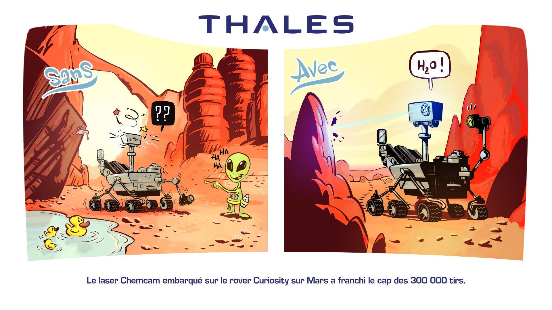 Le laser Chemcam embarqué sur le rover Curiosity a franchi le cap des 300.000 tirs