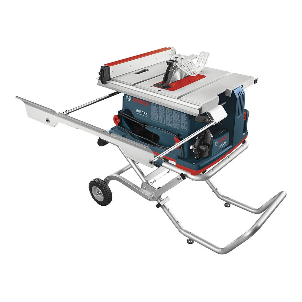 """Bosch BENCHTOP - GTS1041A-09 REAXX 10"""" Worksite Table Saw w/ Active Response Technology, Gravity Rise Stand & Outfeed Support"""