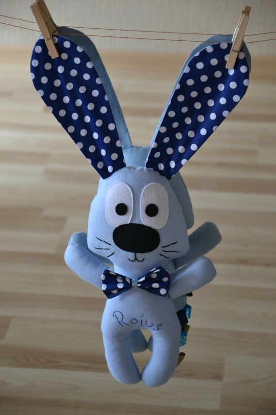 Rabbit toy personalized baby gift toy for boy stuffed bunny toy rabbit toy personalized baby gift toy for boy stuffed bunny toy blue negle Gallery