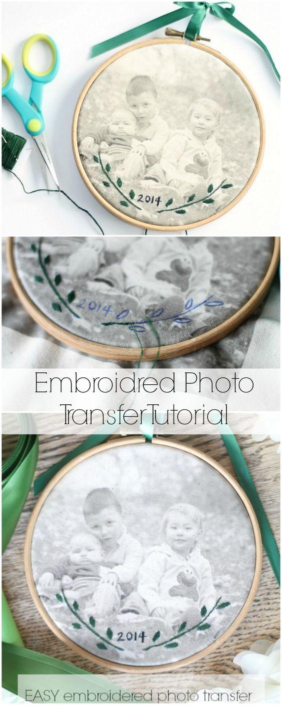 Transferencia fotográfica bordada | Fotografias | Pinterest | Fotografía