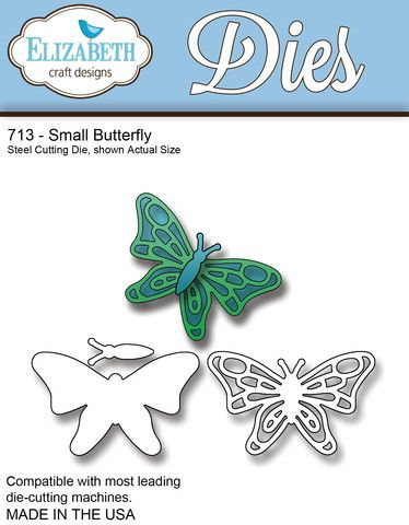 Elizabeth Craft Designs Small Butterfly 713 Wafer Dies