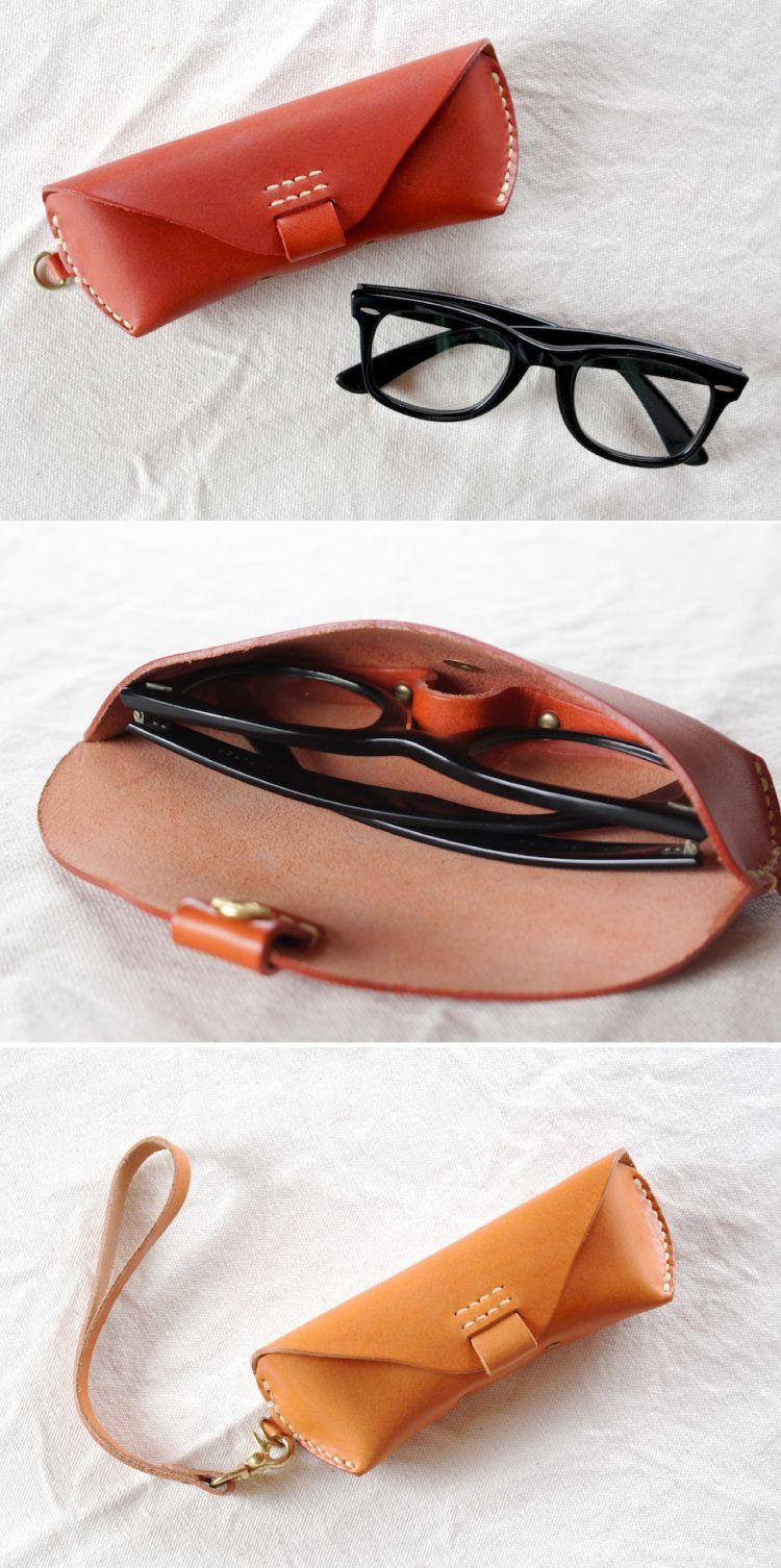 20bba914f9 Estuche Para Lentes · leather glasses case | Duram Factory Coser Cuero,  Artesanía En Cuero, Cuero Hecho A